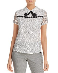KARL LAGERFELD Paris - Bow-Accented Lace Top