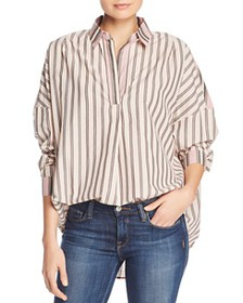 FRENCH CONNECTION - Oversized Striped Cotton Shirt
