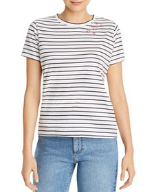 AQUA - Embroidered Striped Tee - 100% Exclusive