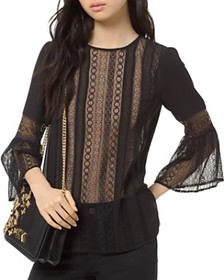 MICHAEL Michael Kors - Mixed-Lace Top