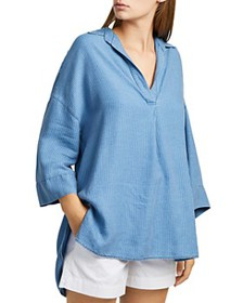 FRENCH CONNECTION - Julienne Oversized Striped Shi