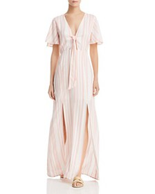 Lost and Wander - Marina Striped Tie-Detail Maxi D