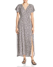 FRENCH CONNECTION - Aubi Micro-Leaf Print Maxi Dre