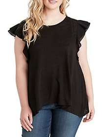Jessica Simpson Plus Relaxed-Fit Moya Lace-Trimmed
