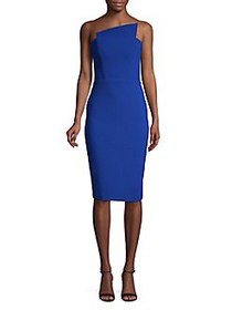 Nicole Bakti Strapless Sheath Dress ROYAL