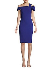 Eliza J Off-The-Shoulder Sheath Dress COBALT