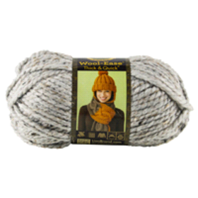 Lion Brand Yarn Wool Ease Thick & Quick Grey Marbl
