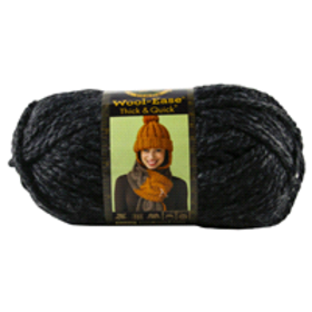 Lion Brand Yarn Wool Ease Thick & Quick Charcoal