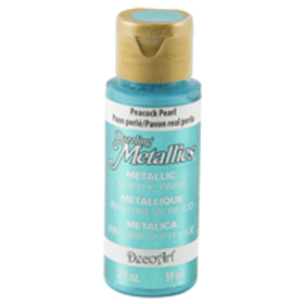 Dazzling Metallics Paint Peacock Pearl Turquoise 2