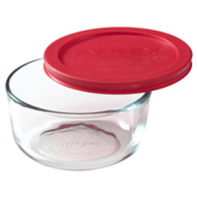 Pyrex® Simply Store® 2-Cup Round Dish W/ Red Plast