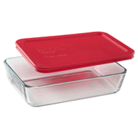 Pyrex® Simply Store® 3-Cup Rectangular Dish W/ Red