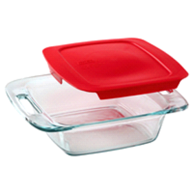 "Pyrex® Easy Grab® 8"" Square Baking Dish W/ Red Pla"