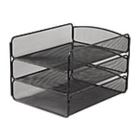 Safco Onyx Letter Tray, Black Steel (3271BL)