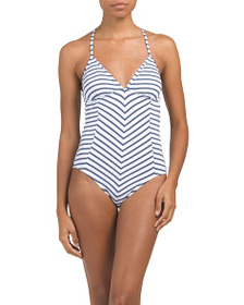 SPLENDID Chambray One-piece Swimsuit