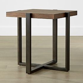 Crate Barrel Lodge Square Side Table