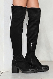 Nasty Gal Riding High Knee-High Boot