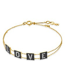 Michael Kors - Love Tile Line Bracelet in 14K Gold