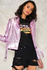 Nasty Gal Night Fever Moto Jacket