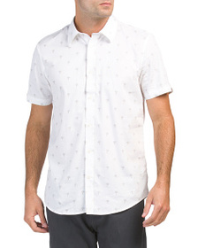 BEN SHERMAN Palm Tree Line Print Shirt