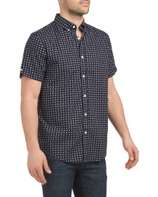 BEN SHERMAN Short Sleeve Seashell Print Shirt