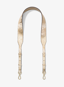 Michael Kors Metallic Snake-Embossed Leather Shoul