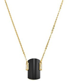 Michael Kors - Stone Pendant Necklace in 14K Gold-