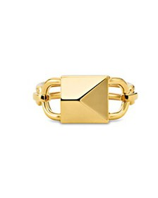 Michael Kors - Mercer Padlock Ring in 14K Gold-Pla