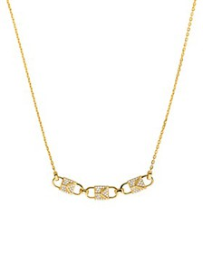 Michael Kors - Mercer Padlock Necklace in 14K Gold