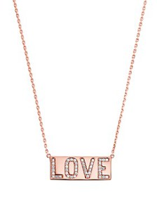 Michael Kors - Love Plaque Pendant Necklace in 14K