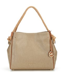 MICHAEL Michael Kors Isla Large Met Canvas Grab Ba