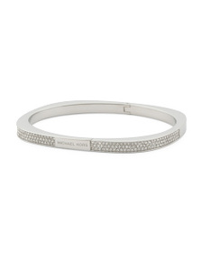 MICHAEL KORS Crystal Pave Hinge Bangle Bracelet