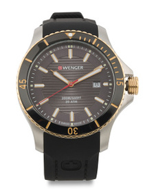WENGER Men's Swiss Made Seaforce Silicone Strap Wa
