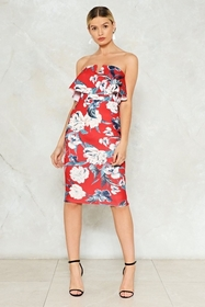 Nasty Gal Let Me Give It a Go Floral Dress
