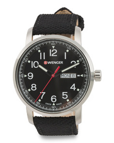 WENGER Men's Swiss Made Heritage Nylon Strap Watch