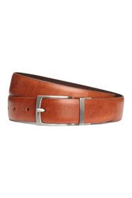 Reversible leather/suede belt