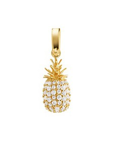 Michael Kors - Pavé Pineapple Charm in 14K Gold-Pl