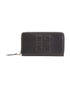 GIVENCHY Made In Italy Logo Zip Leather Wallet