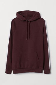 Hooded Shirt with Side Stripes