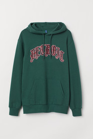 Hooded Shirt with Motif