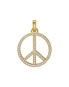 Michael Kors - Oversized Pavé Peace Charm in 14K G