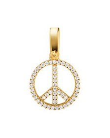 Michael Kors - Pavé Peace Charm in 14K Gold-Plated