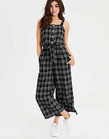 American Eagle AE Button Front Jumpsuit