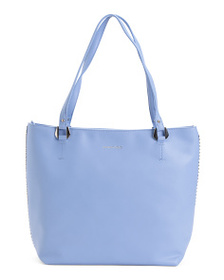MAX STUDIO Large Tote With Ball Chain Detail