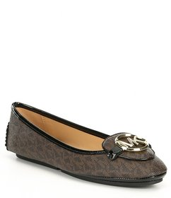 MICHAEL Michael Kors Lillie Logo Leather Moccasins