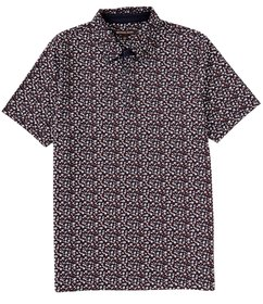 Michael Kors Mini Floral Print Short-Sleeve Polo S