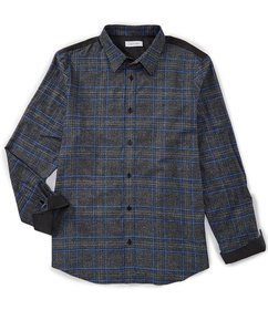 Calvin Klein Glen Plaid Long-Sleeve Woven Shirt