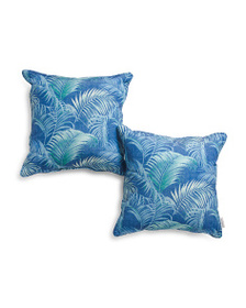 TOMMY BAHAMA 2pk 18x18 Indoor Outdoor Palms Pillow