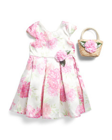 CATHERINE MALANDRINO Little And Big Girls Floral D