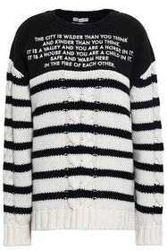 EACH X OTHER Embroidered French terry-paneled stri