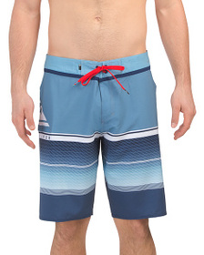 QUIKSILVER Striped Board Shorts